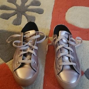 Converse All Star Metallic Rose Leather Sneakers